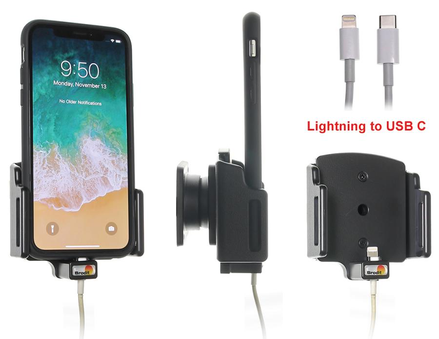 Bilde av BRODIT Holder For Cable Connection Iphone X, Xs, XR